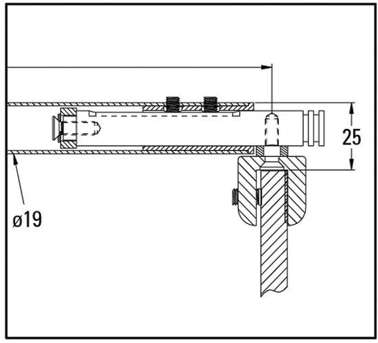 Barre de stabilisation ronde verre-verre télescopique