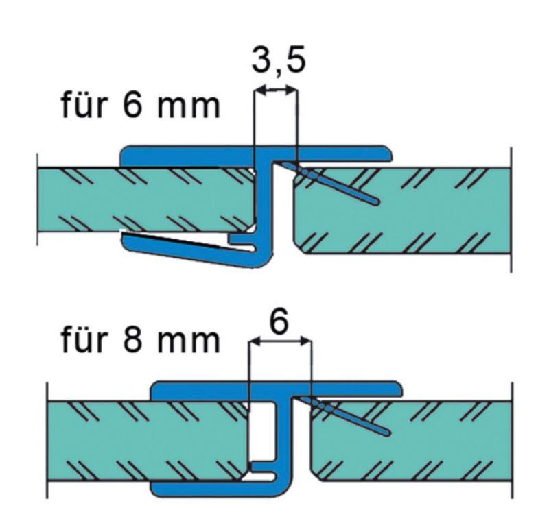 joint d'étanchéité pour porte en alignement 180°