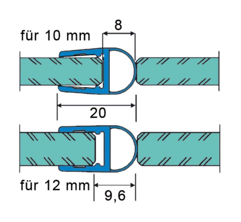 Joint d'étanchéité avec soufflet 10-12 mm
