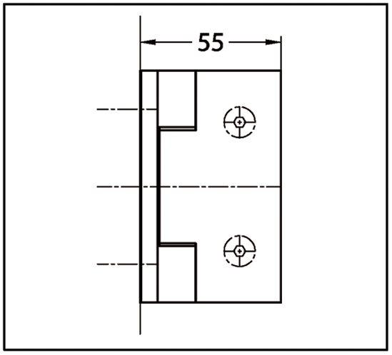 Charnière BELLA Verre mur 90° ouverture intérieur