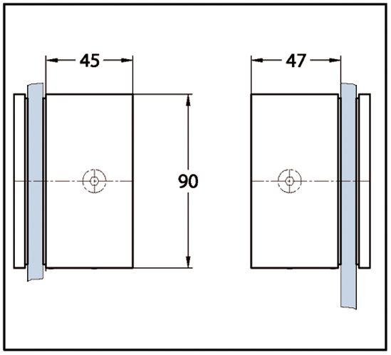 Connecteur BELLA verre-verre 6-8 mm