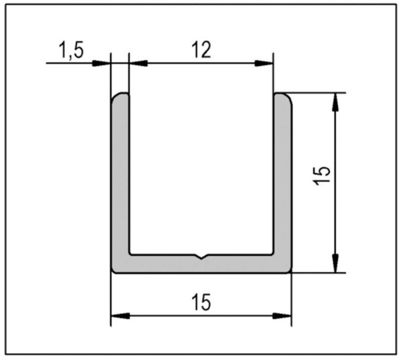 Profilé en U 15x15x1,5 2500mm