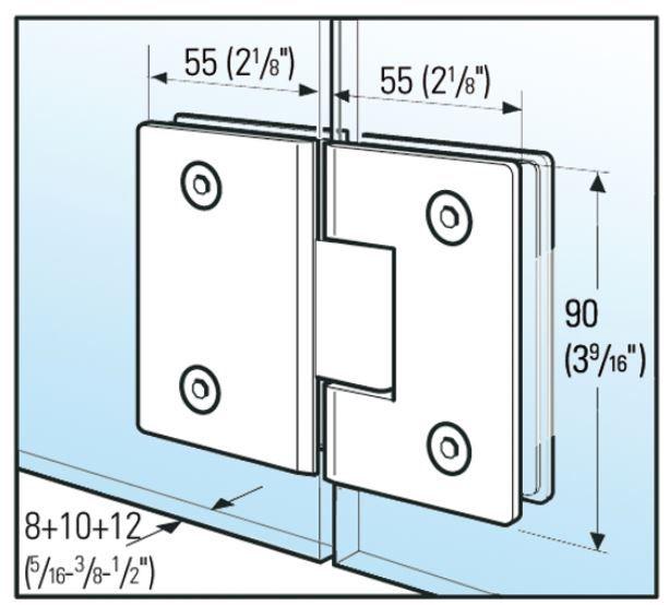Charnière Bilbao Select verre verre 180°
