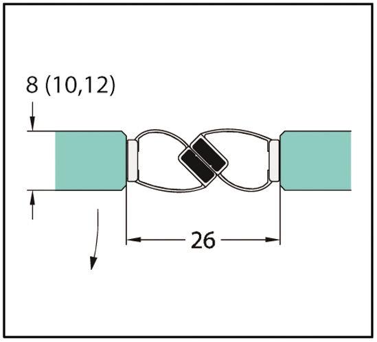 Joint d'étanchéité autocollant 180°