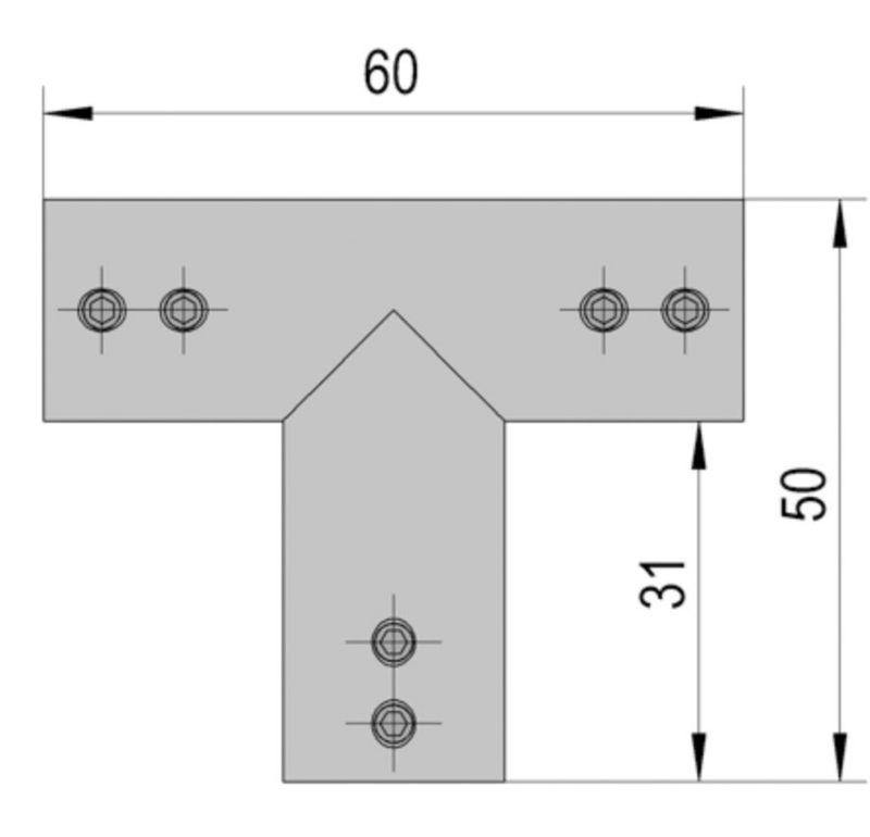 Raccord en T pour Barre de stabilisation ronde  ø12