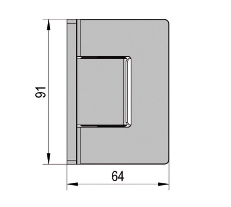 Charnière Santos verre mur 90° (Lot de 2)