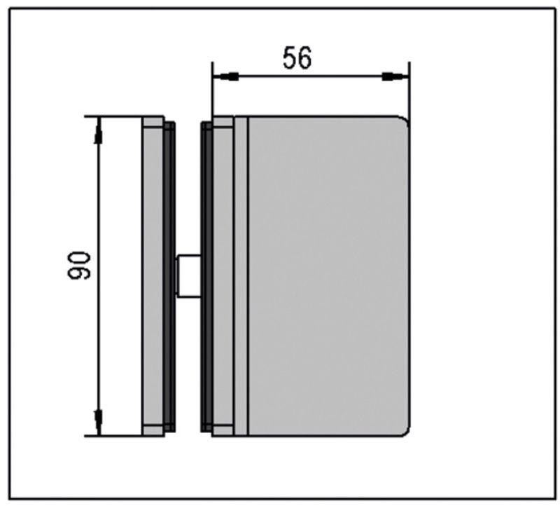 Connecteur Santos Verre-mur 8-10 mm (Lot de 2)
