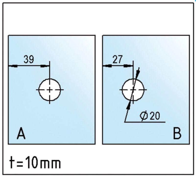 Raccord d'angle SANTOS verre-verre 90° (Lot de 2)