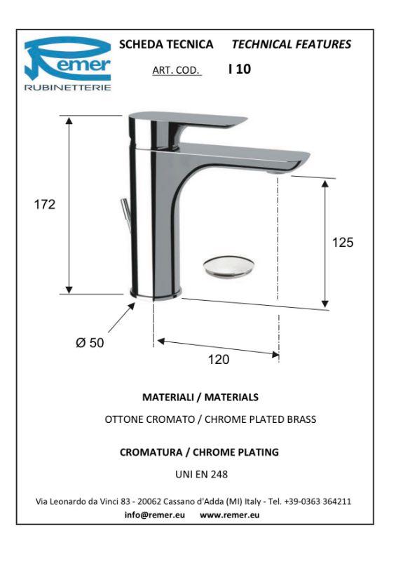 Mitigeur lavabo INFINI - chromé