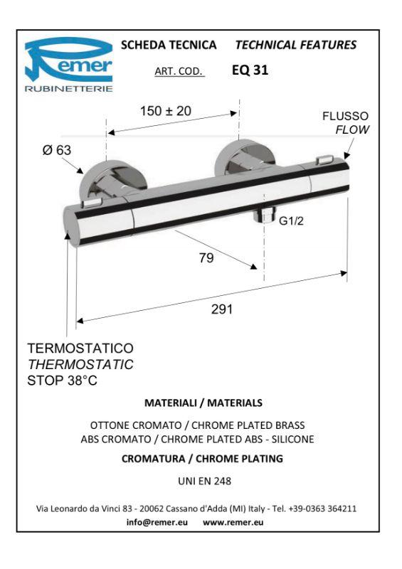 Mitigeur thermostatique rond REMER