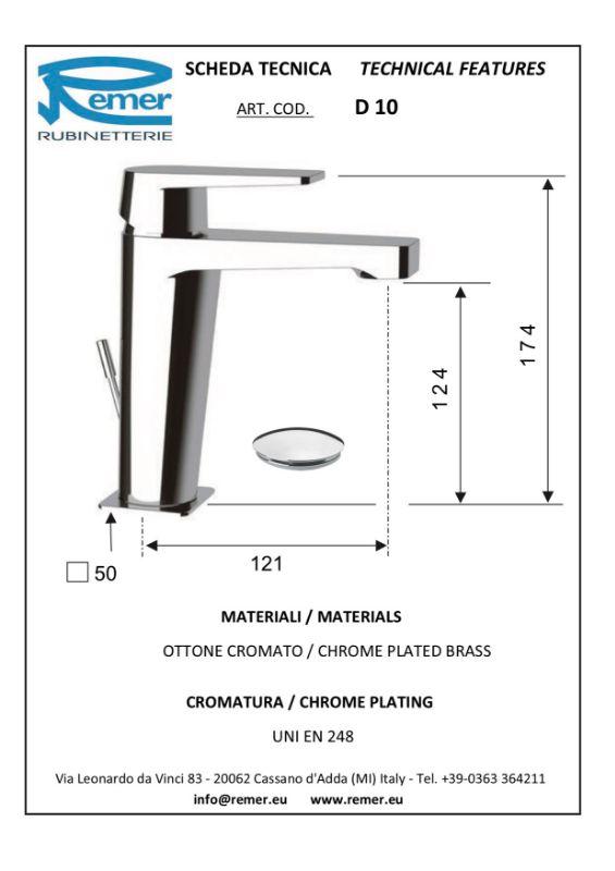 Mitigeur lavabo DRIM chromé - avec vidage