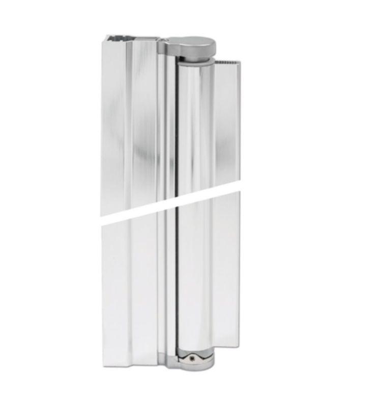 AQUA - Charnière profilée 90° pour porte de douche 8 mm