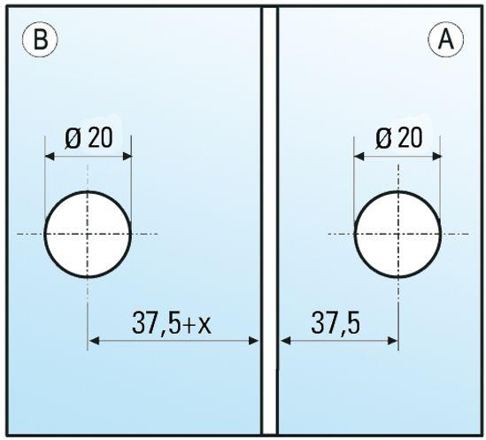 Connecteur Verre-Verre 8-12 mm 90°