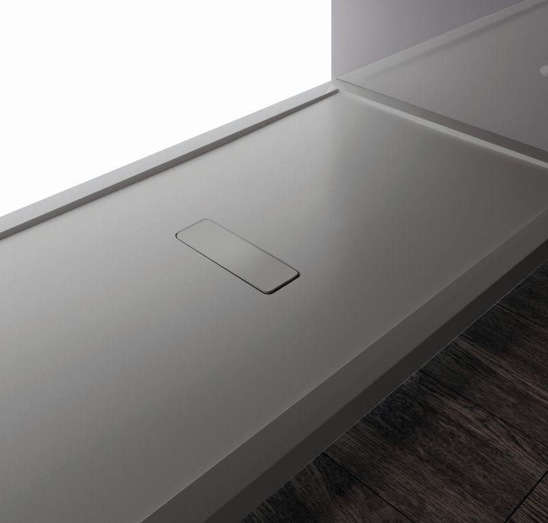 Receveur de douche anthracite gris fonc/é min/éral marbre fin Passion 100 x 140 cm